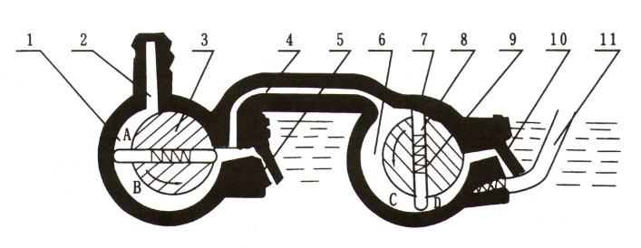 2X旋片真空泵原理图1